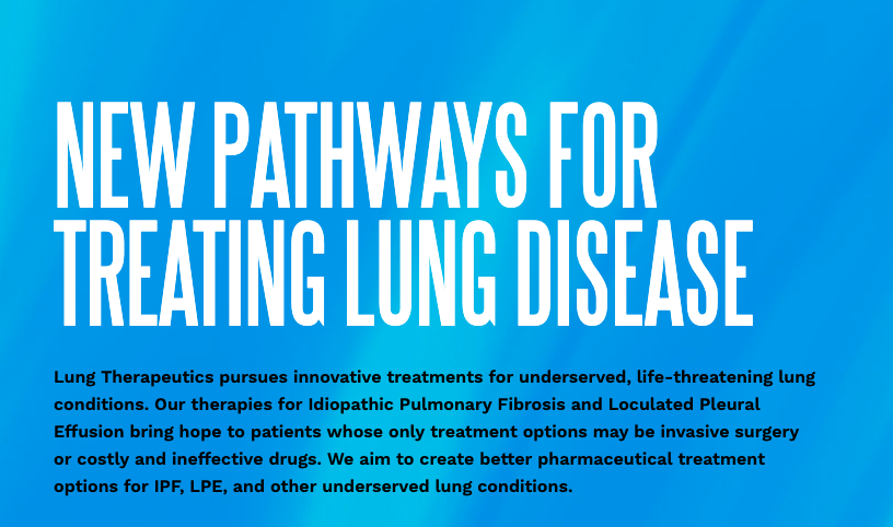 Lung Therapeutics, Inc. Raises $36 Million in Series C Financing