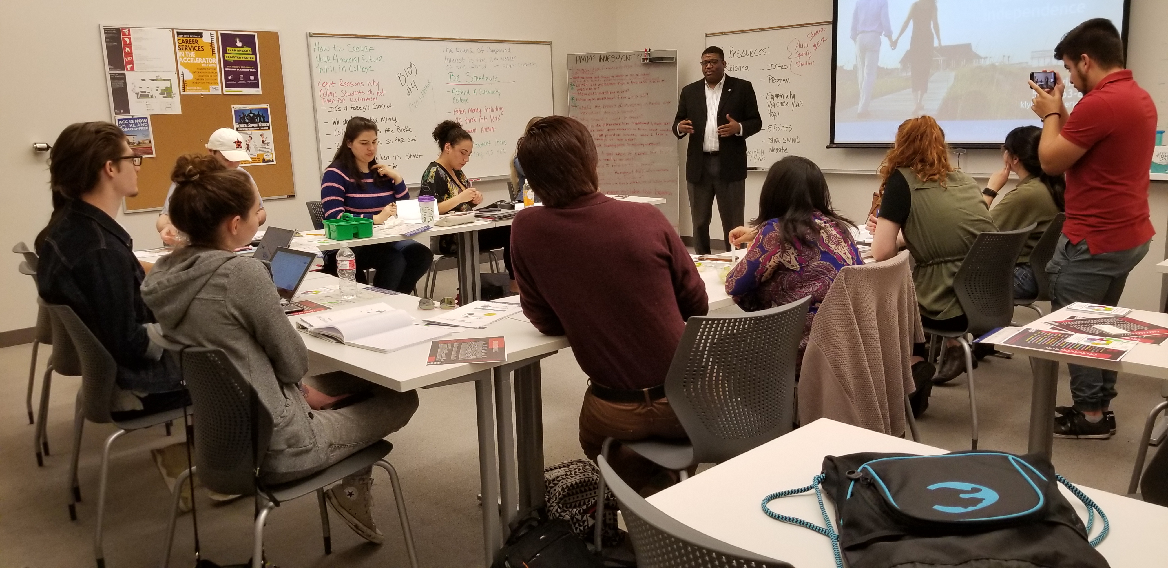 Guest speakers bring real world experience to the Peer Money Mentor training