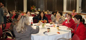 Faculty and staff from around the college discuss strategies during a session with Dr. Davis Jenkins.