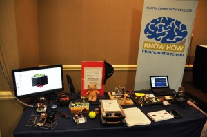 Projects created in ACC's makerspace were on display.