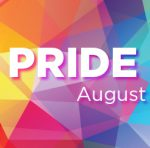 Colorful prisms design with words Pride Week in all-caps and bold stretched across the image. The dates August 20-28 are below Pride Week