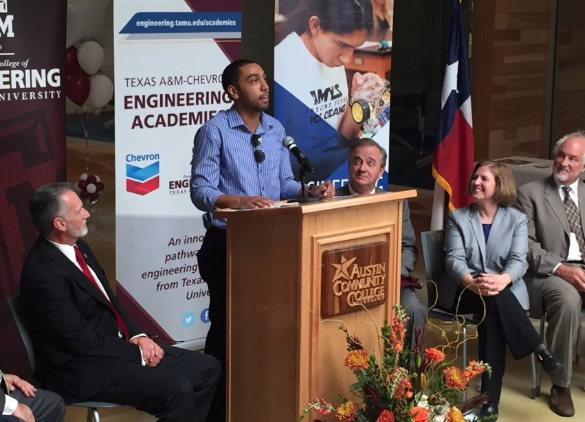 ACC student at Engineering Academy announcement