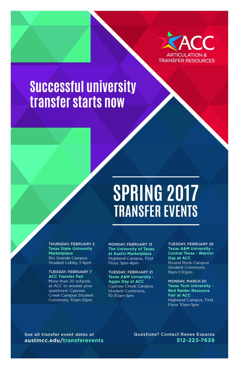 planning to transfer learn essentials at spring events acc newsroom in addition to guidance on transfer preparation students can obtain valuable information about scholarship opportunities and college planning