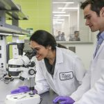 Students use lab equipment at the ACC Bioscience Incubator.