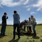 ACC GIS students test drone mapping technology at Zilker Park.