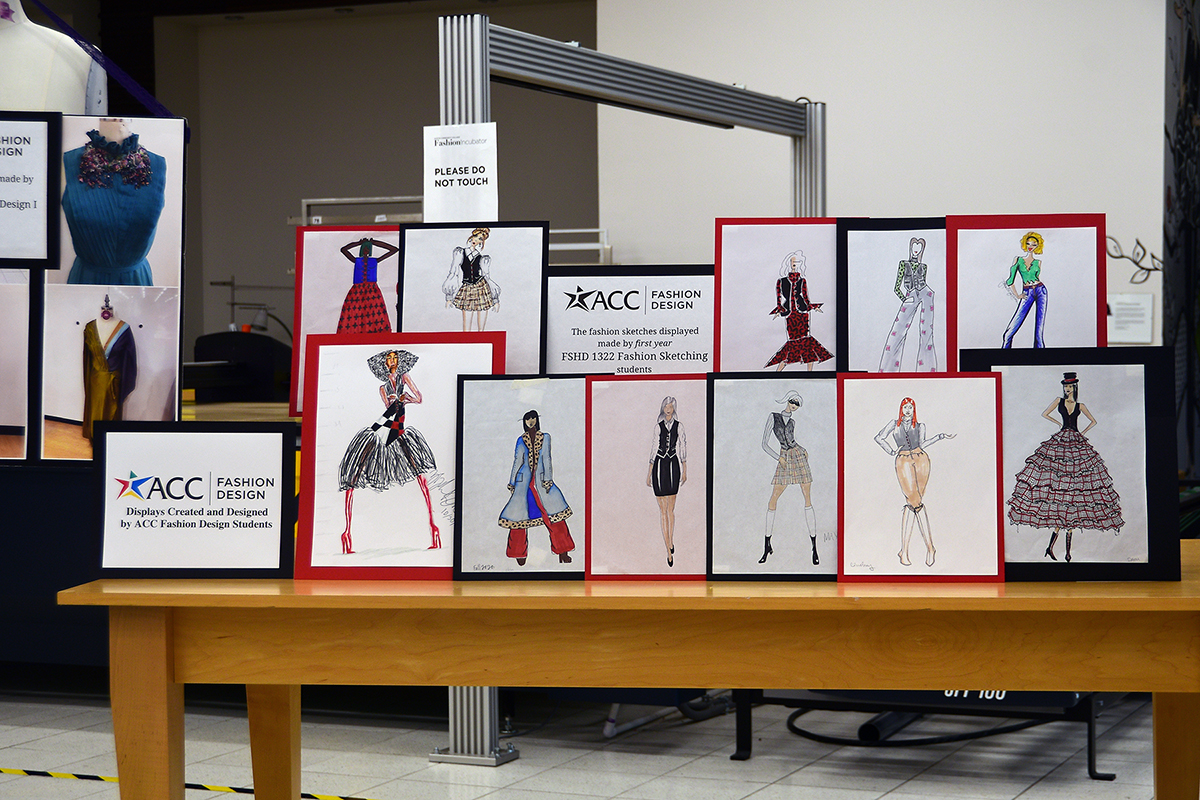 Displays by Fashion Design Students