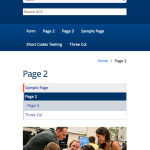 Mobile View of the ACC Default WordPress Theme