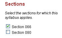 Publish the syllabus to the appropriate section