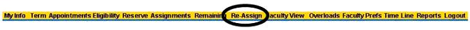 re-assign menu within ACCeStaffing